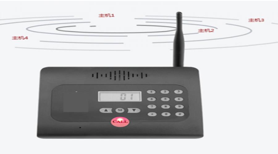 秘书机/商务无线对讲呼叫器方案